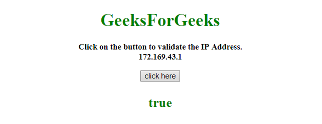 How to check for IP address using regular expression in