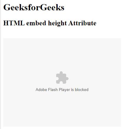 HTML   <embed> height Attribute - GeeksforGeeks