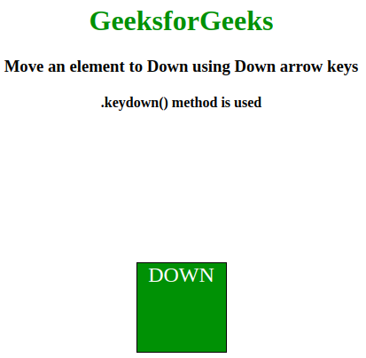 How to move an element to left, right, up and down using