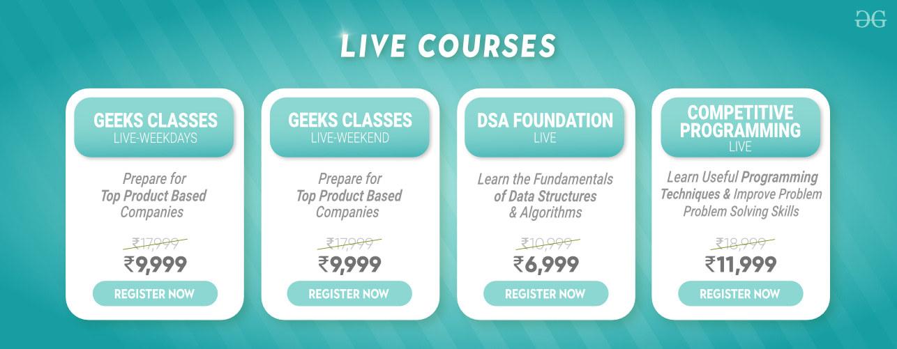 GeeksforGeeks-Live-Courses
