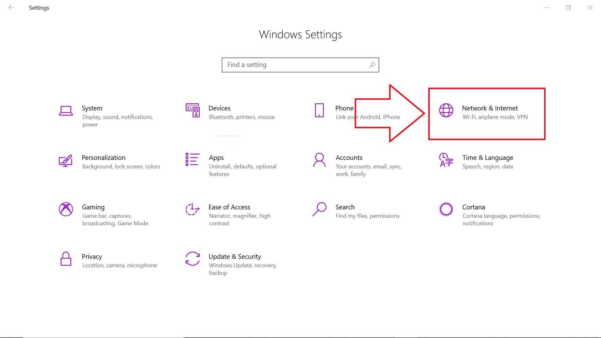 Marked Network & Settings