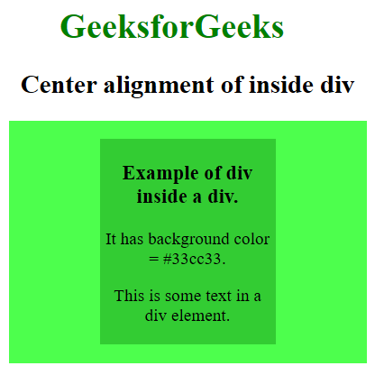 Image of Placing a div at center inside a div with value for top and bottom margin
