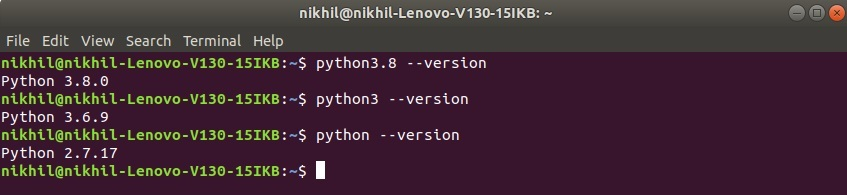 Check-python-version-for-linux