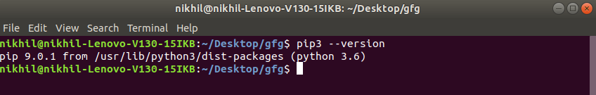 pip-Version-check-linux