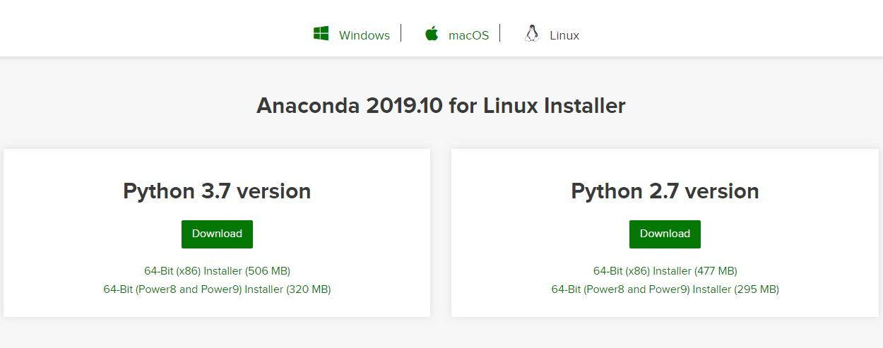 Anaconda-download-for-linux
