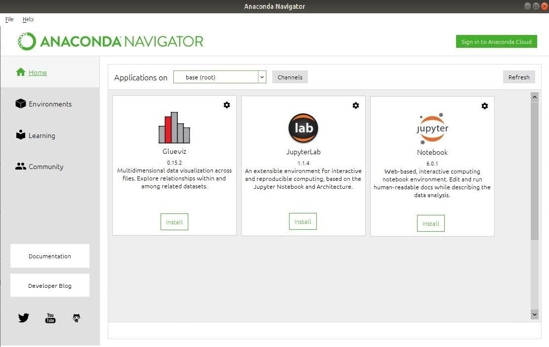 Anaconda Navigator Linux