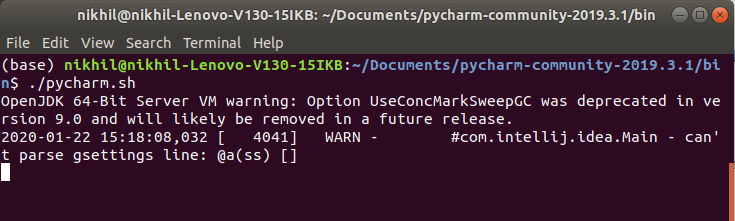 Command to Start PyCharm