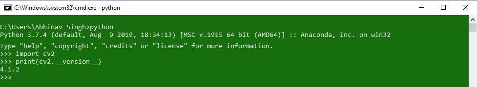 OpenCV-Verification