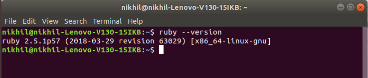 Ruby-Linux-Version-Check