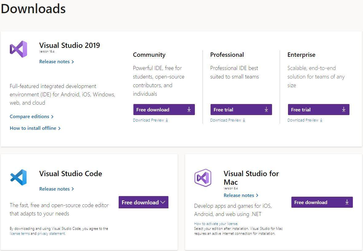 Visual-Studio-Download-Windows