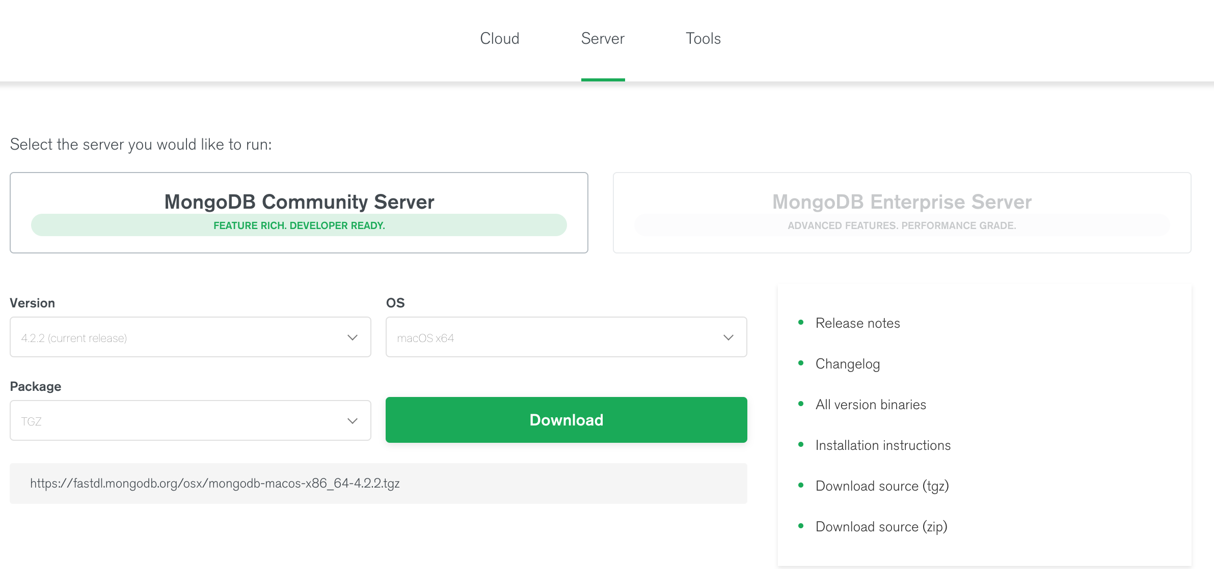 download-mongoDB