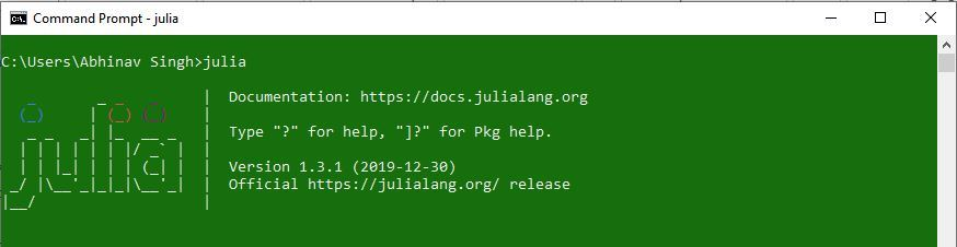 Julia-PostInstallation-Check