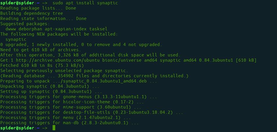 Installing Synaptic Package Manager 1