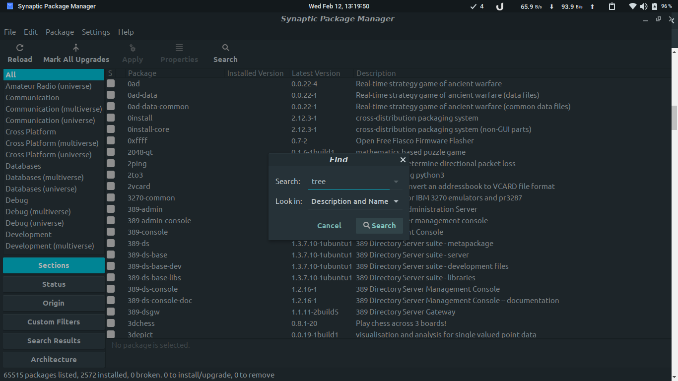 Installing Packages using Synaptic Package Manager 2