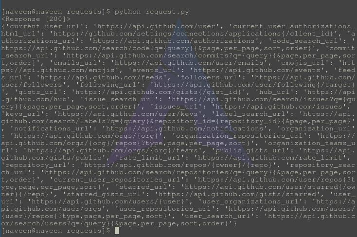 response.json-Python-requests