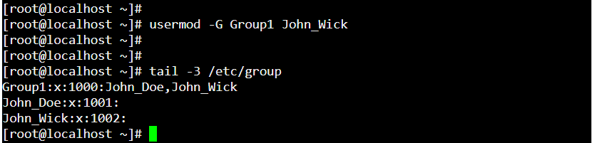 Command to Add a User to an Existing Group