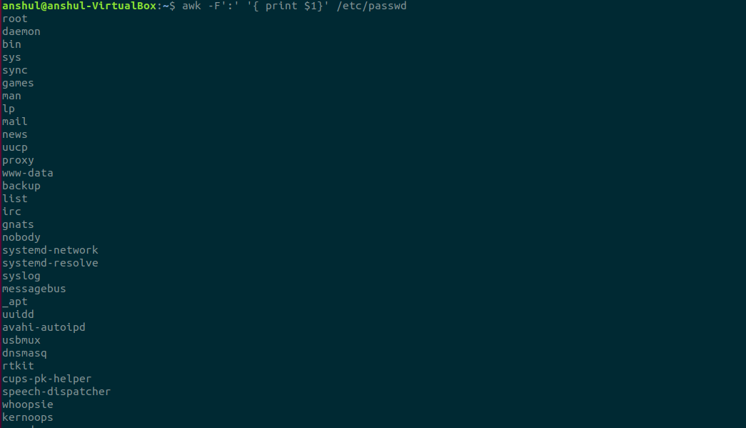 Awk-Command-to-List-Out-all-the-Users-in-Linux