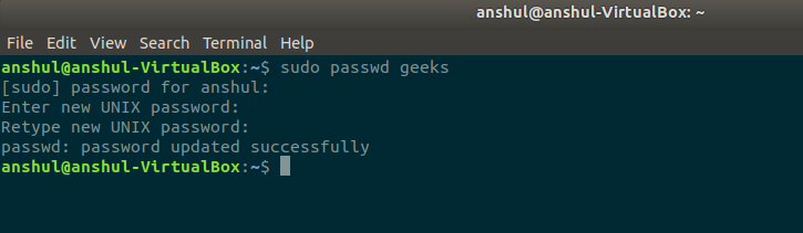 assigning-a-password-to-the-user-in-linux