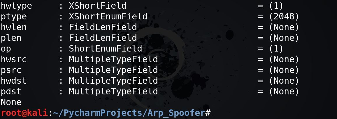 Scapy.ls()