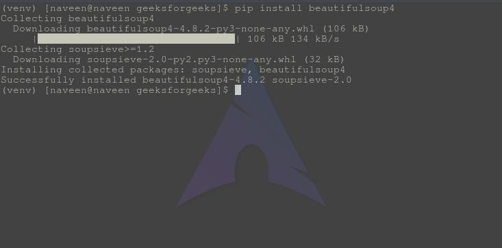 beautifulsoup-installation-Python