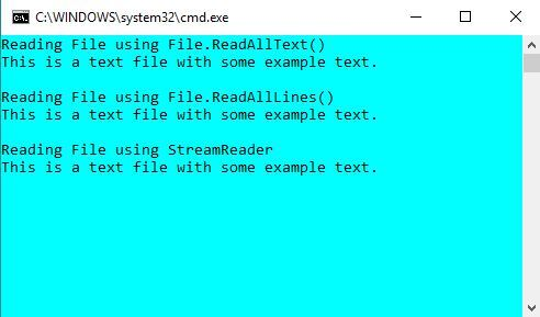 reading text file in C#