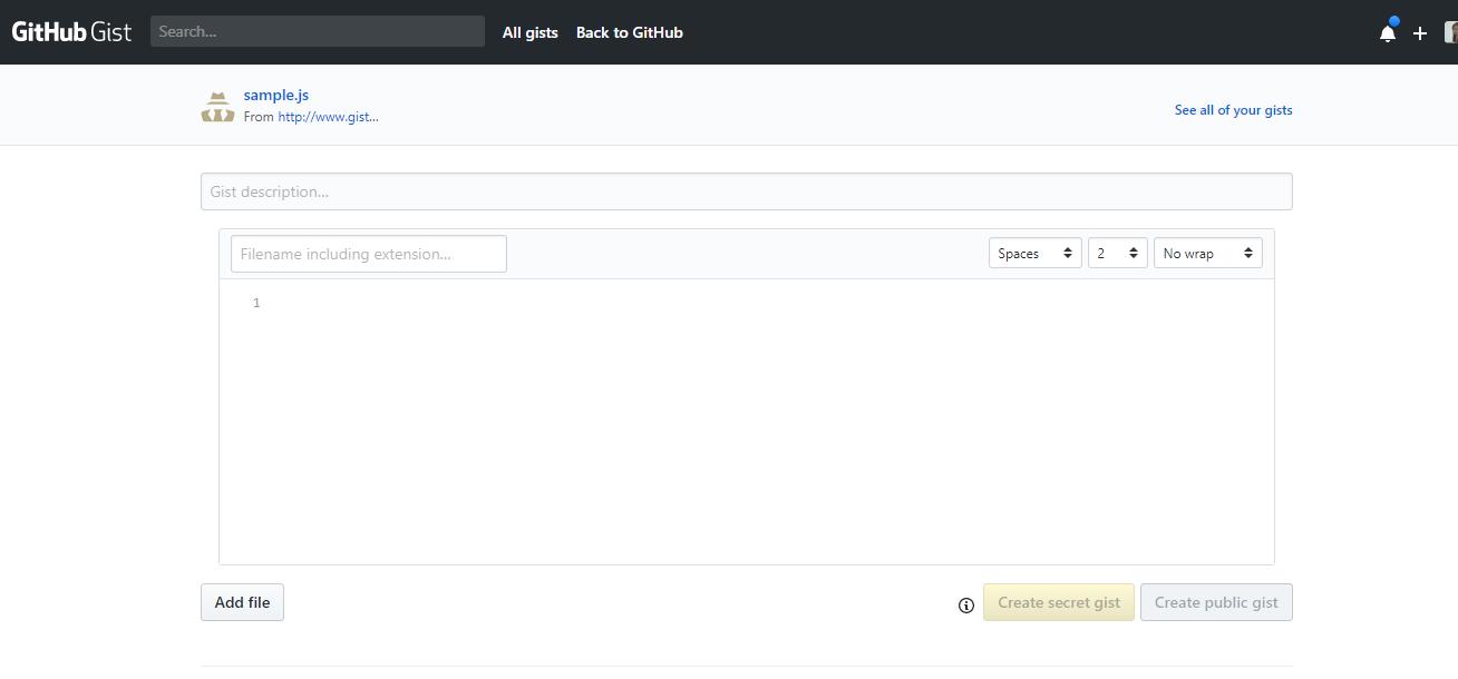 Github Gist - Coding Sharing for Developers