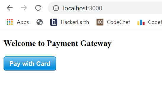 Payment Demo Form