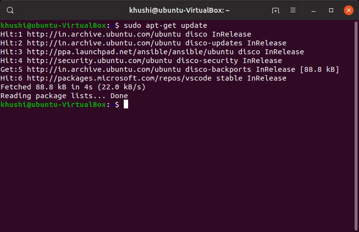 update system repos