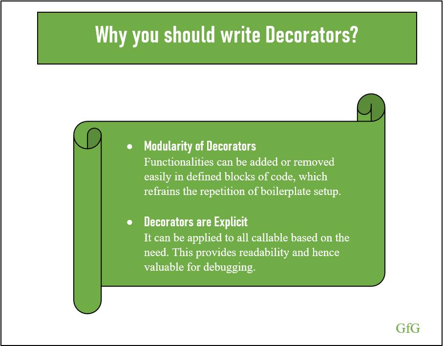 Why Decorators