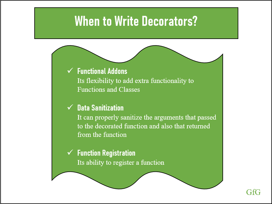 When to write Decorators