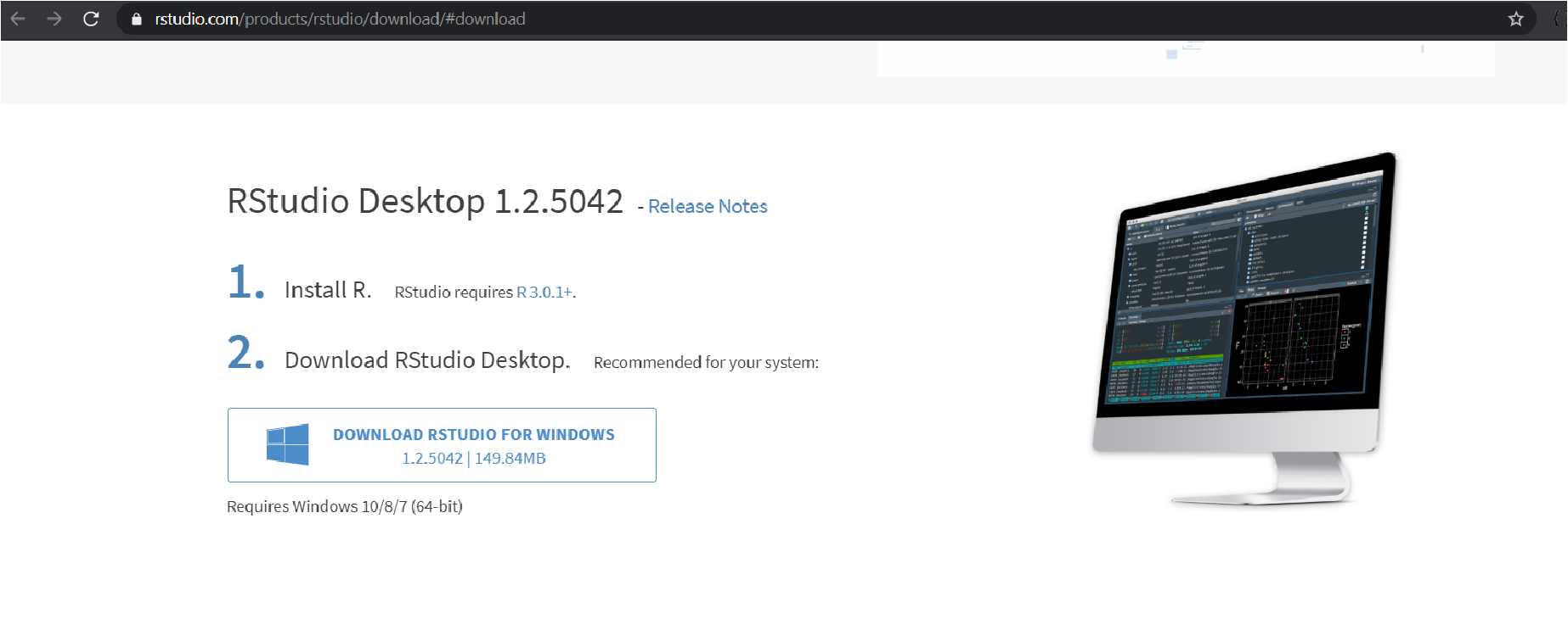 Downloading R Studio for Windows.