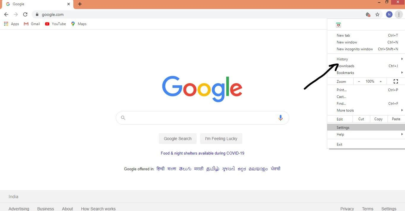 Deleting Google Chrome Browser History - 2