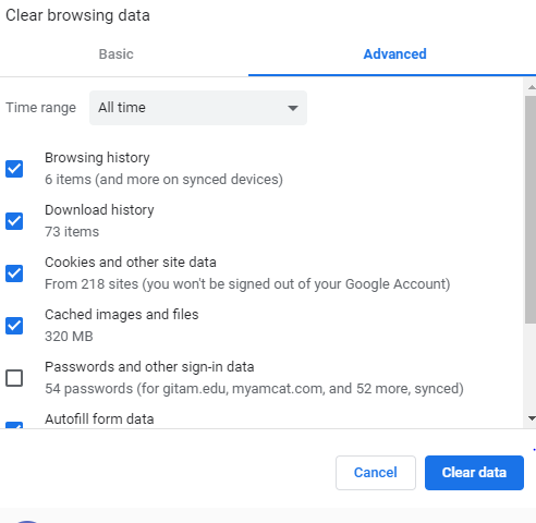 Deleting Google Chrome Browser History - 5