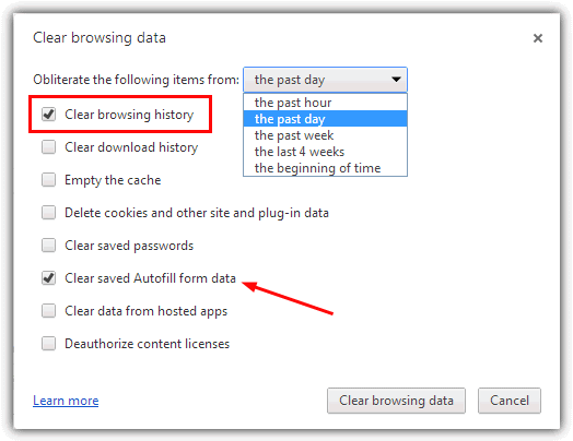 Deleting Google Chrome Browser History - 6