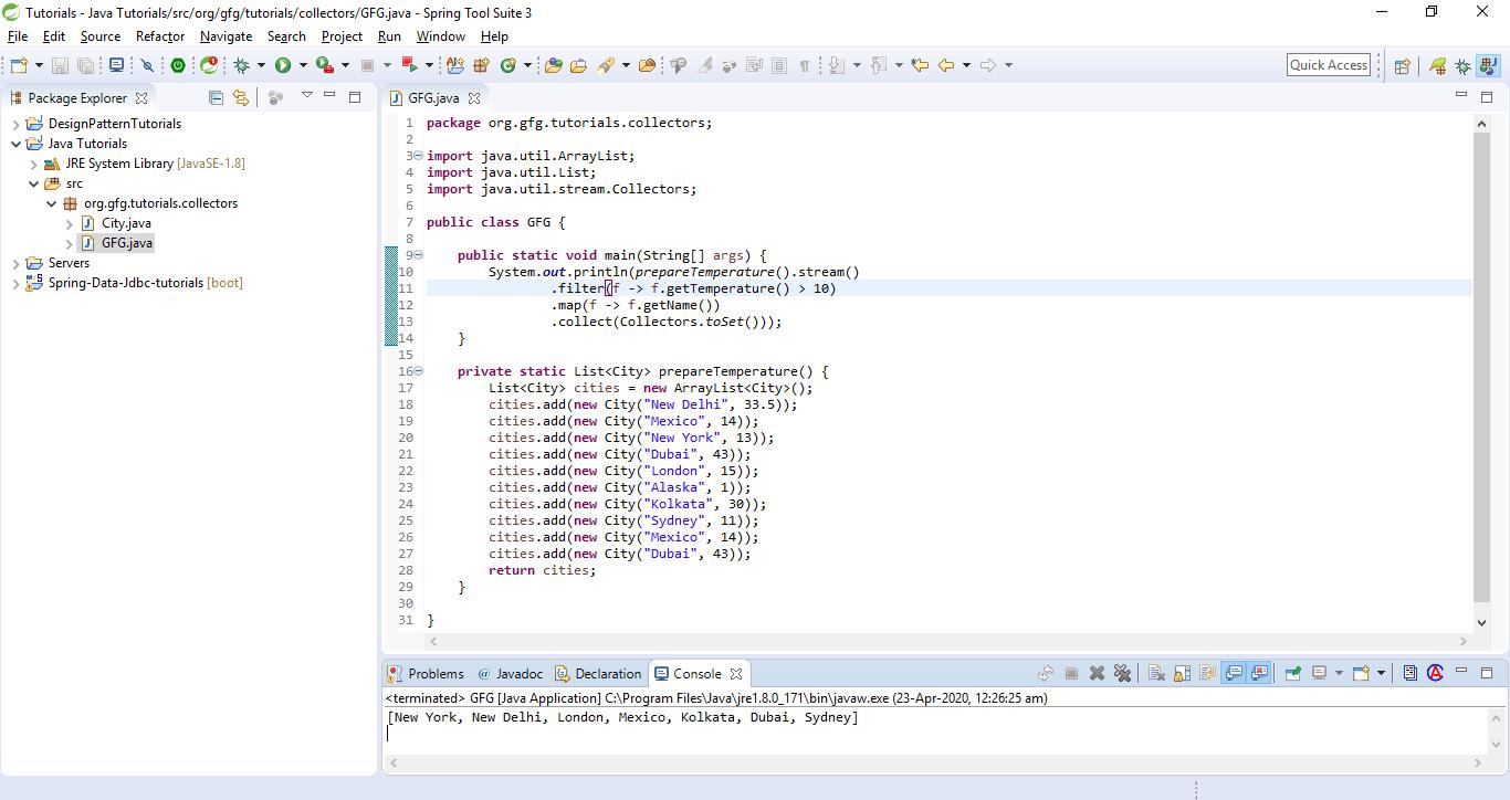 Collectors Example in Java