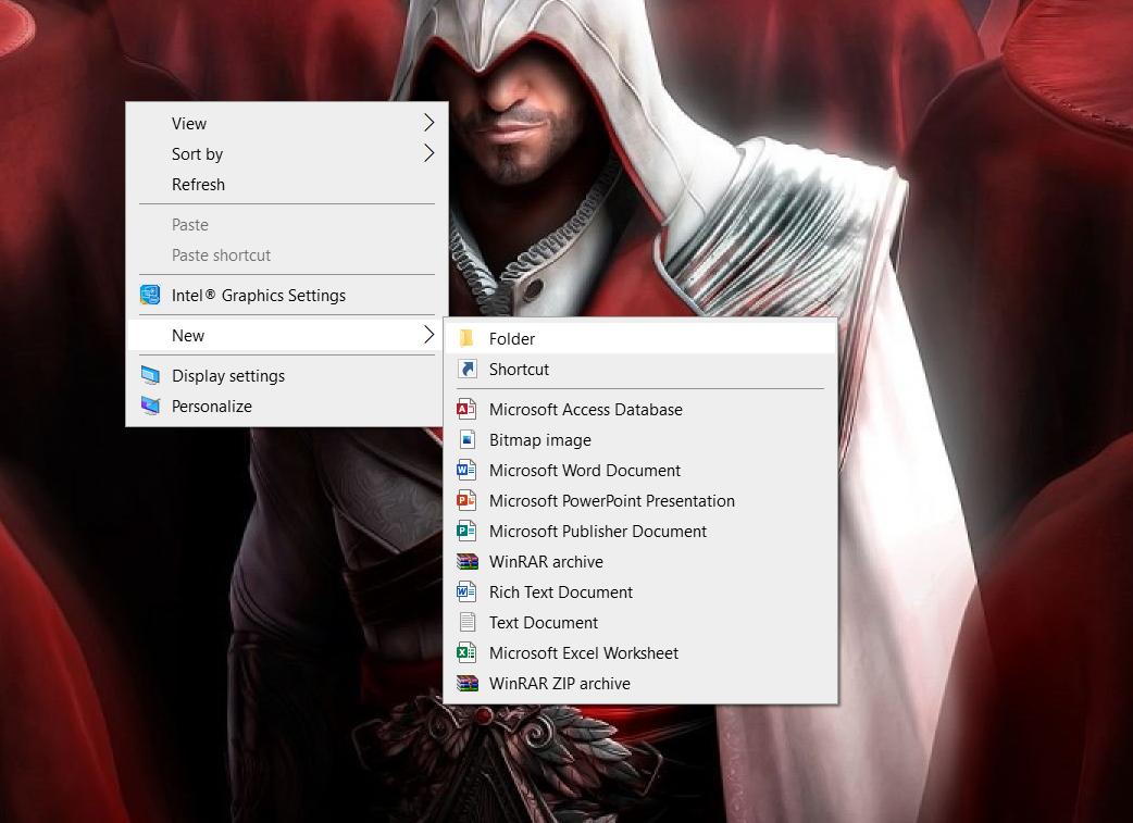 hiding a folder in windows - 1