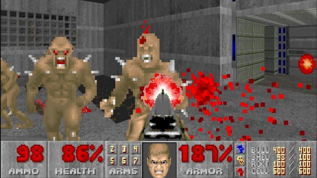 Doom(game - 1993) using rasterization