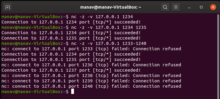 Port-Scanning-Using-Netcat-Command-in-Linux