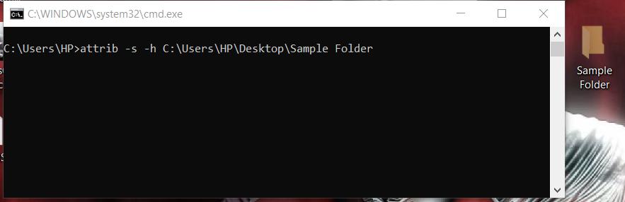 to view the hidden folder in windows using cmd - 2