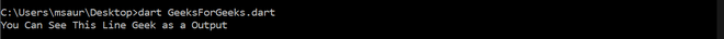 Asserts(not enabled) output through cmd in Dart