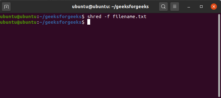 To-change-permissions-to-allow-writing-if-necessary-while-using-shred-command