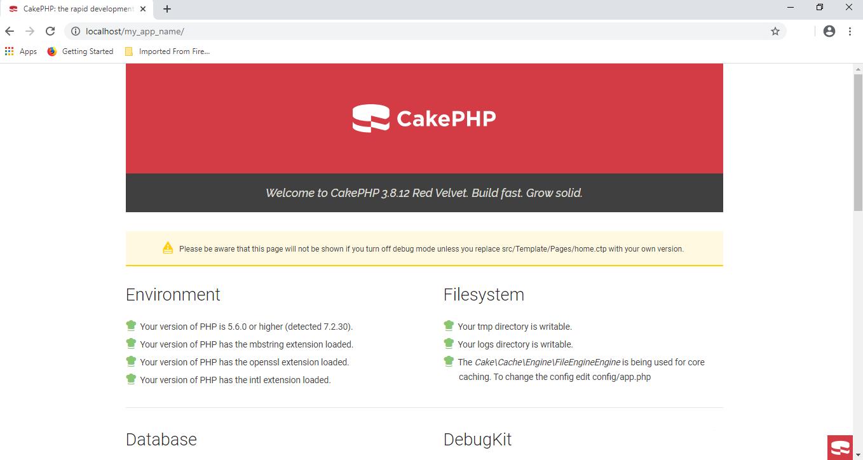 installed-CakePHP