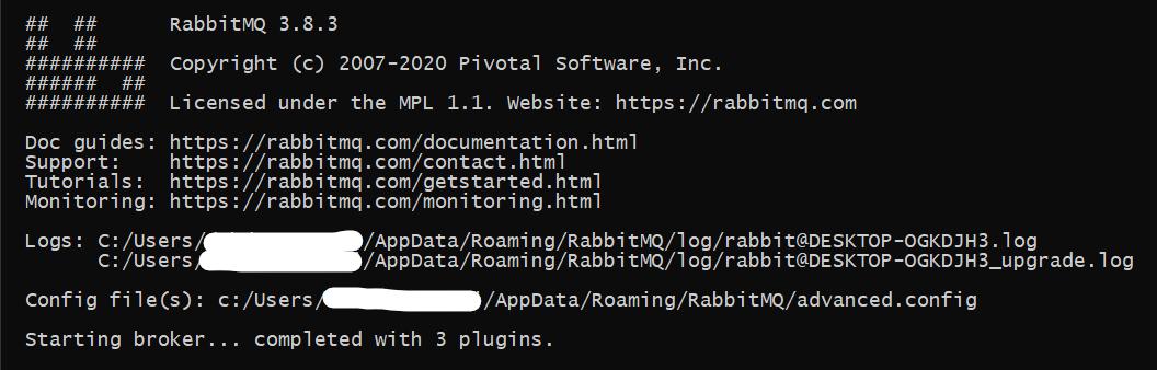RabbitMQ terminal