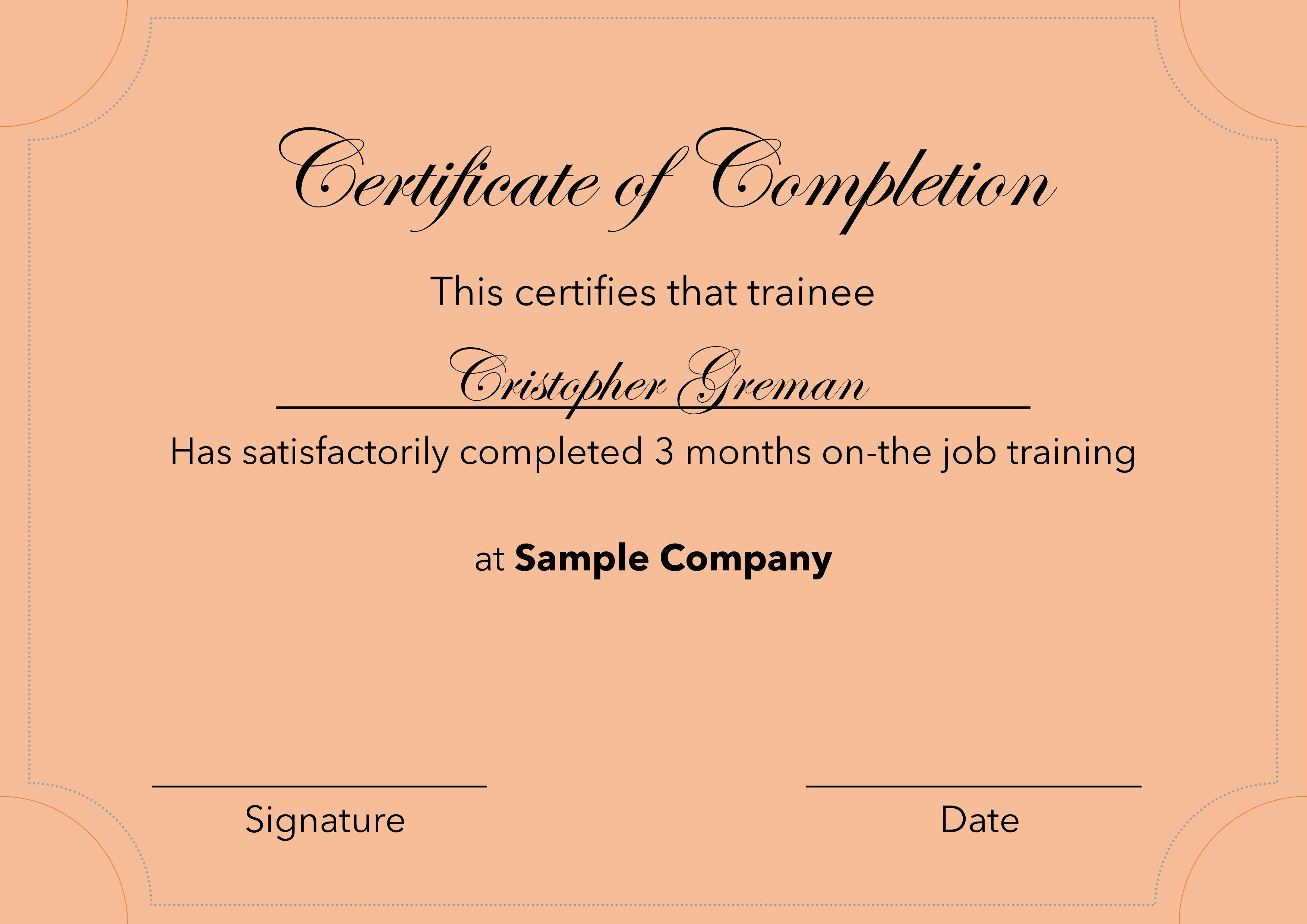 Final Certificate result