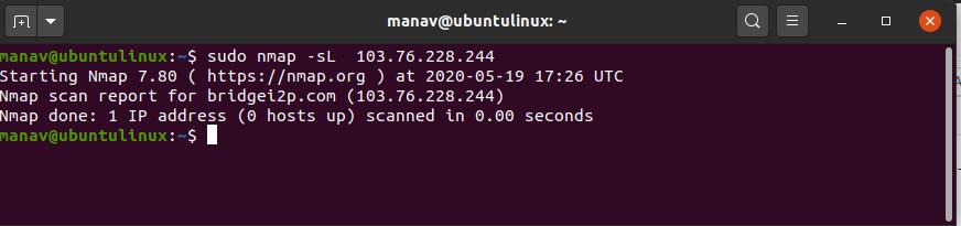 to-identify-hostnames-nmap