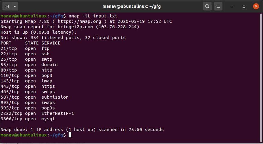scan-from-file-nmap