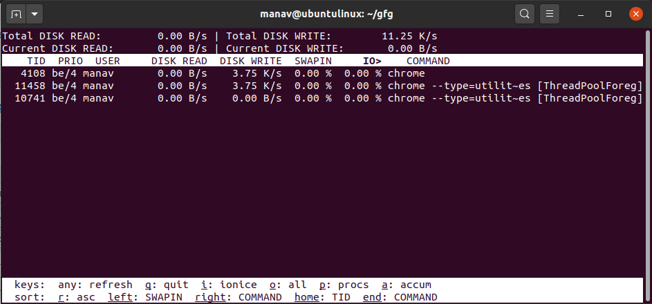 only-current-actual-disk-usage-iotop