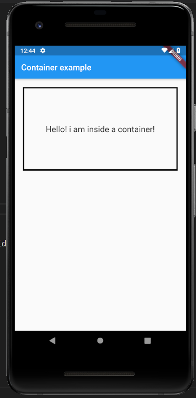 decoration in container class in flutter