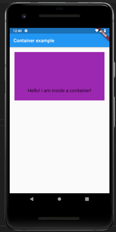 alignment in container class in flutter
