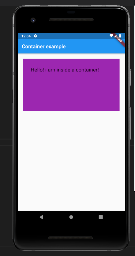 padding in container class in flutter